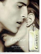 PUBLICITE ADVERTISING 115  2009  Cartier  parfum homme Déclaration