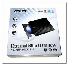 Brand New! ASUS USB 2.0 Black External Slim CD/DVD Writer Model SDRW-08D2S-U