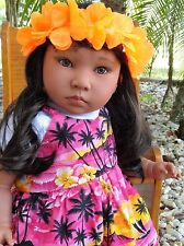 "Reborn 22"" Hawaiian  girl  doll ""Leilani ""  Kinderland American Kids +fun extras"