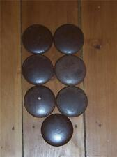 Round Wood Cabinet Drawer Knobs  Set of 7 Vintage Good Condition