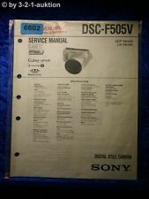 Sony Service Manual DSC F505V Level 1 Digital Still Camera (#6602)