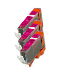 3 MAGENTA Ink Compatible + CHIP for Canon CLI-221 MP560 MP980 MP990 iP4700