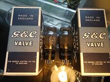 GEC KT61 NOS BRITISH PAIR OF OLD STOCK AVO TESTED BOXED VINTAGE VALVES TUBES