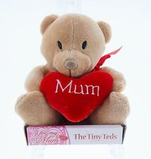 Small Cute Mothers Day/Christmas/Birthday Bear With Heart Gift 'For My Mum'