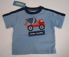 NWT Gymboree Construction Ahead Mixing Machine Cement Mixer T-Shirt 12-18 Months