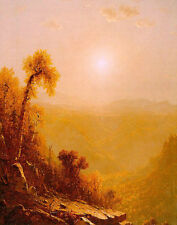Oil painting Gifford, Sanford Robinson American artist October in the Catskills