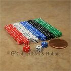 NEW 5mm 100 Opaque Mini Dice Set RPG Game Miniature 3/16 inch Tiny D6 - 5 Colors