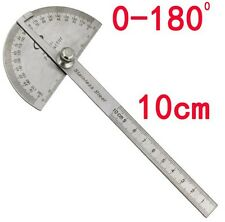 TOP Stainless Protractor Goniometer Round Head Angle Finder Ruler Measuring Tool