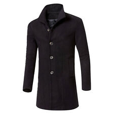 WINTER Men Fashion Trench Coat Warm Thicken Jacket Peacoat Long Overcoat 4 Color
