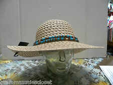 TAN  SUN HAT MADE OUT OF PAPER ALWAYS SPRINGS BACK TO SHAPE