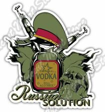"Russian Solution Vodka AK-47 Gun Russia Car Bumper Vinyl Sticker Decal 4""X5"""