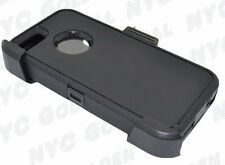 For Iphone 5/5S/SE Defender BLACK Case Cover [Belt Clip Fits Otterbox]