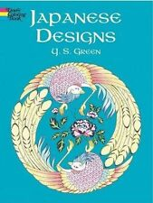 Coloring Book Adults Japanese Style Design Pattern Relax Activity Stress Relief