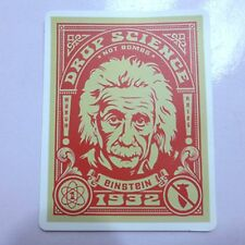Albert Einstein Retro Sticker Guitar Skateboard Car Laptop Computer Vinyl Decal