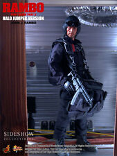 HOT TOYS 1/6 FIRST BLOOD II MMS11 JOHN J RAMBO HALO JUMPER MASTERPIECE FIGURE