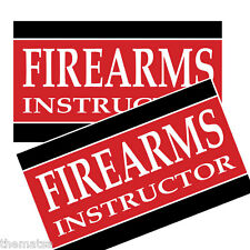 FIREARMS INSTRUCTOR TAB TOOLBOX HELMET BUMPER PACK OF 4 STICKER DECAL USA MADE
