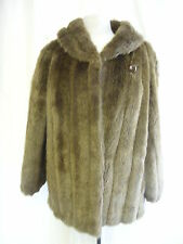 "Ladies Coat - Unknown, size 14, brown, faux fur, swing, 36"" bust - 8262"