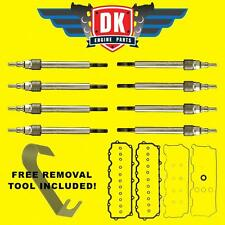 2004-2007 FORD 6.0L POWERSTROKE GLOW PLUG SET AND VALVE COVER GASKETS 6.0 NEW!!