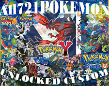Pokemon Y All 721 Unlocked Shiny Legal Legit Max Items Mega Stones 3DS 6 IVs