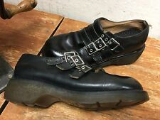 Dr. Martens 1B62 Double Buckle Mary Jane Loafer Mens 8 Women's 9 New Insoles