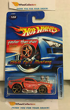 1968 Ford Mustang #128 * ORANGE w/ FTE Rims * 2006 Hot Wheels * E21