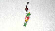 Parrot Bird Pet Charm Design Belly Button Navel Ring Body Jewelry Piercing