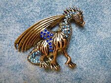 SPECIAL OFFER Amazing Bronze And Blue Dragon Needle Minder Cross Stitch