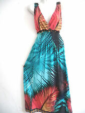 BOHO Women Summer Boho Long Maxi Evening Party Dress Beach Dresses Sundress #1 M