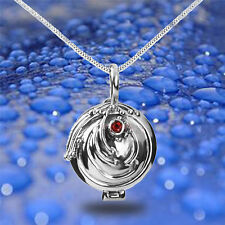 Elegant The Vampire Diaries Elena Vervain Ctystal Necklace Locket Pendant Chain