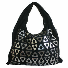 ALEXANDER WANG BLACK CLAUDIA GROMMET LEATHER HOBO BAG - RARE