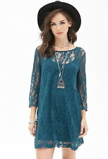 Forever 21 F21 Floral Lace Shift Dress Small