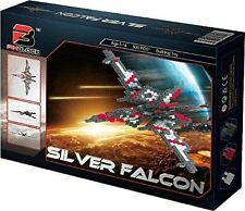 Pinblock Silver Falcon 900 pcs Ages 7-14  2 in 1 Building Toy BRAND NEW