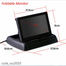 """Foldable 4.3"""" LCD Colorful Display Screen Car Reverse Rearview Parking Monitor"""