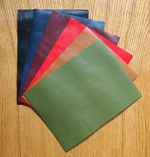 Veg-tan LEATHER pezzi di pelle di pecora Craft PACK 6 @ 20cm x 15cm colori assortiti