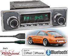RetroSound Model TWO-C Radio/Bluetooth/iPod/USB/AUX-In-Porsche Becker Pinstripe