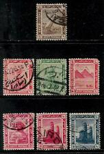 EGYPT  1914 Old Stamps - Boat on Nile River, Cleopatra, Giza Pyramids, Sphinx, C