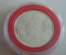 1971 Iraq 1 Dinar Celebrating the Iraqi Army Golden Jubilee Silver Coin -  Mint
