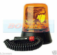 12V/24V MAGNETIC HALOGEN ROTATING/FLASHING AMBER/ORNAGE BEACON AS BRITAX 394.00