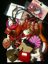 Huge Jewelry Vintage/mod Junk Drawer Jewelry Harvest Craft Scrap Lot READ
