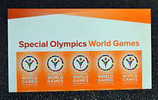 2015USA  #4986  Forever - Special Olympics World Games  Header Strip of 5 - Mint