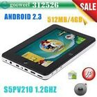 """7"""" Capacitive google android 3.0 tablet pc S5PV210 512MB 1GHz Capacitive Dropad"""