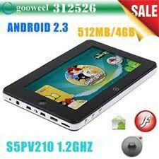 "7"" Capacitiva Google Android 3.0 Tablet PC S5PV210 512MB 1GHz Capacitiva Dropad"