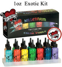 Millennium Moms Tattoo Inks Boxed Kit with 14 - - 1oz Bottles - EXOTIC KIT