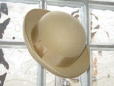 Laura Ashley Vintage Oro Pallido/farina d'avena Lana Feltro Cloche Cappello, Taglia unica