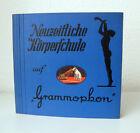 """Leeres Album f. vier Schellackplatten """"Neuzeitliche Körperschule"""" auf Grammophon"""