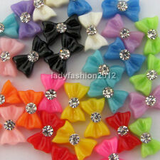 60 PC Bow-tie Rhineshines For Acrylic Nail Art UV Gel Tips Cell Phone Decoration