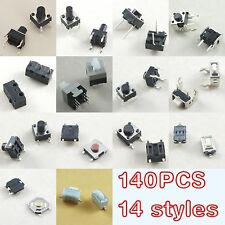 140pcs Tactile Tact Push Button Switch Momentary ON-OFF latching switch DIY kit
