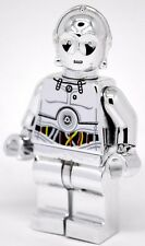 Custom Lego Star Wars Minifigure CHROME SILVER C-3PO C3PO TC-14 Pad Print