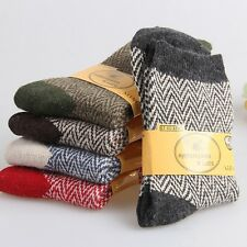 5 Pairs Women Wool Cashmere Thick Warm Soft Solid Casual terry Socks Winter