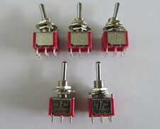 5x DPDT 3 Way ON OFF ON Guitar Mini Toggle Switch SALECOM UL Car/Boat  Switches
